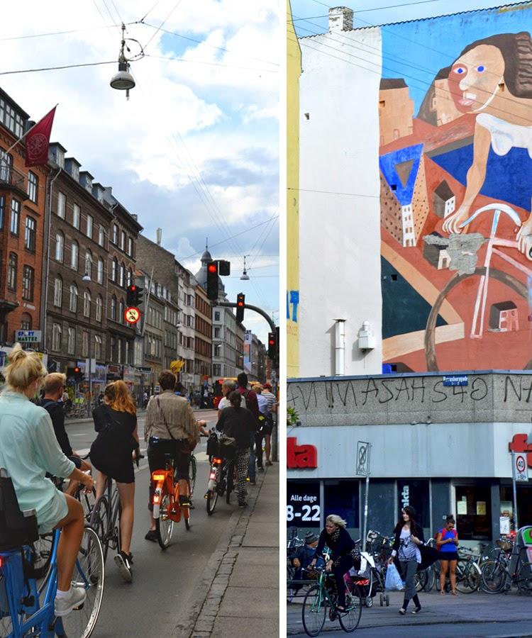 Ciclistas en la calle Norrebrogade | stylefeelfree