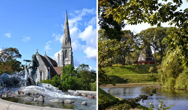 Iglesia de St Alban's a la izquierda y Ved Norgesporten a la derecha, en Copenhague | stylefeelfree