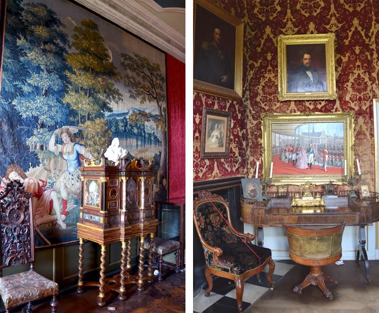 Interior del palacio-castillo de Rosenborg Slot en Copenhague, stylefeelfree