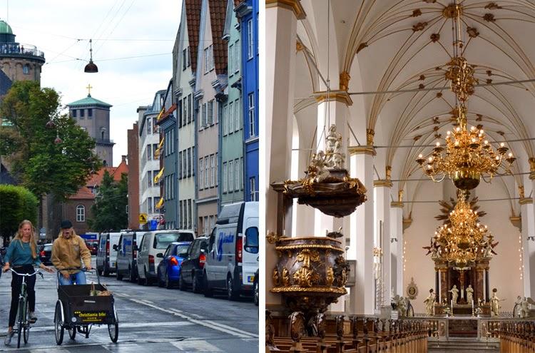 Rundetaarn, la torre redonda a la izquierda. A la derecha interior de Trinitatis Kirke | stylefeelfree