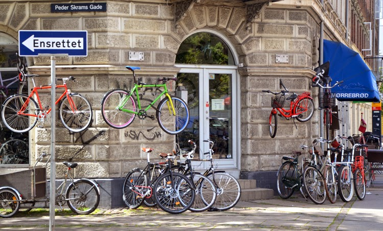 Tienda de bicis en Peder Skrams Gade, en Copenhague | stylefeelfree