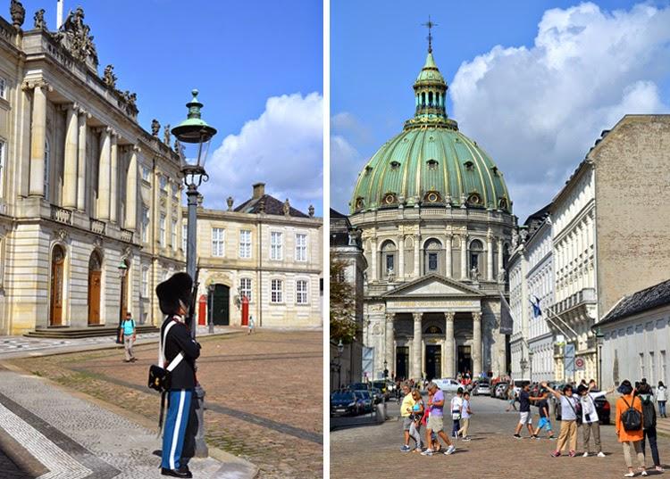 Palacio de Amalienborg a la izquierda e Iglesia Murble a la derecha | stylefeelfree